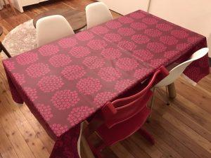 マリメッコ・プケッティのオイルクロスレッド fabric12