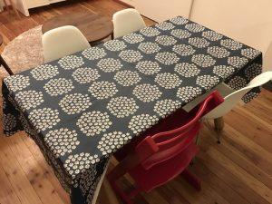 マリメッコ・プケッティのオイルクロスブルー fabric13