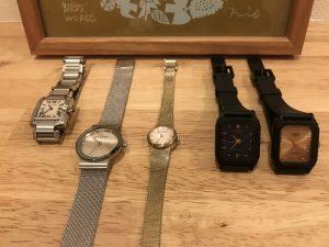 普段使いの腕時計のアップ skagen2