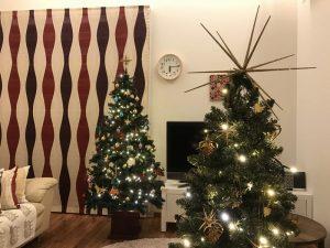 メインのクリスマスツリーとサブのクリスマスツリー 2016-christmas-eve6