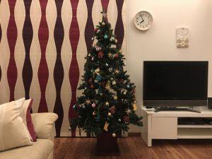 メインのクリスマスツリー完成 gorgeous-tree11