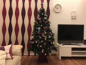 完成間近の我が家のクリスマスツリー gorgeous-tree9