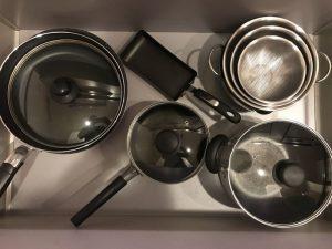 キッチン鍋用引き出し p-touch-and-kitchen4