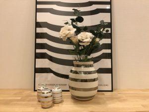ケーラー・オマジオ・シルバーに造花を飾る Kahler-omaggio-vase-silver4